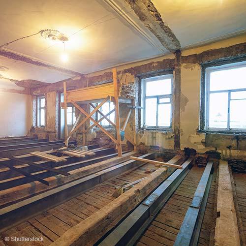 Sanering van houten vloeren: geluidsisolatie, stabiliteit en brandveiligheid